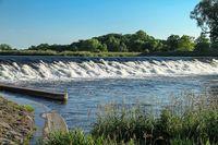 Bobritzer Damm bei Eilenburg, wichtige wassertechnische Einrichtung